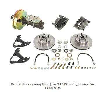 GTO Disc Brake Conversion Kit